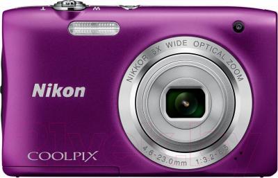 Компактный фотоаппарат Nikon Coolpix S2900 (фиолетовый) - вид спереди
