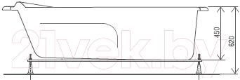 Ванна акриловая Artel Plast Оливия (170х70)
