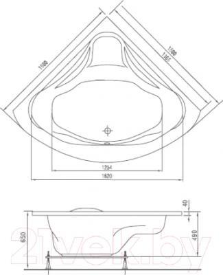 Ванна акриловая Artel Plast Станислава (150х150)