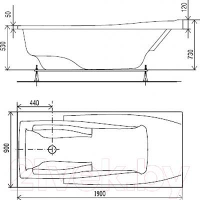 Ванна акриловая Artel Plast Прекраса (190х90)