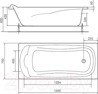 Ванна акриловая Artel Plast Искра (130x75)