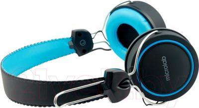 Наушники Microlab K300 (черно-синий) - вид сбоку