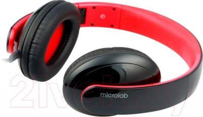 Наушники-гарнитура Microlab K310 (черно-красный) - общий вид