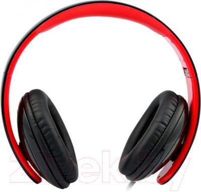 Наушники-гарнитура Microlab K310 (черно-красный) - вид сбоку