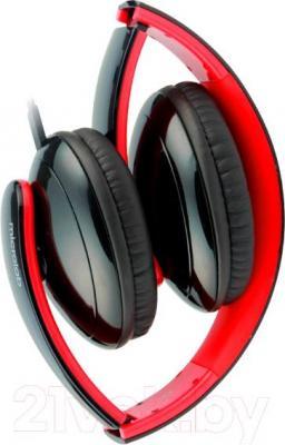Наушники-гарнитура Microlab K310 (черно-красный) - в сложенном виде