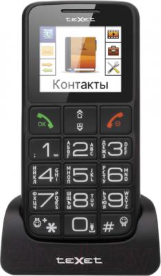 Мобильный телефон TeXet TM-B112 (серый + автомобильное ЗУ)
