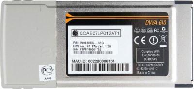 Беспроводной адаптер D-Link DWA-610 - вид снизу