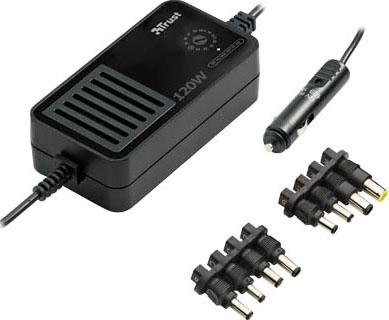 Автомобильное зарядное устройство для ноутбука Trust PW-3120p - общий вид с разъемами