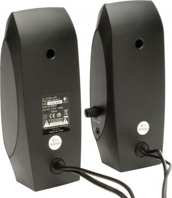 Мультимедиа акустика Logitech Speakers S-120 (980-000010) - вид сзади