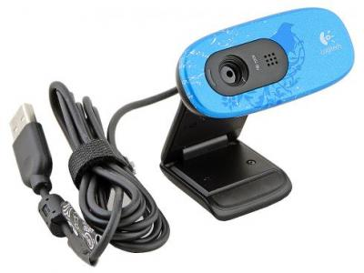 Веб-камера Logitech HD Webcam C270 Indigo (960-000809) - сбоку