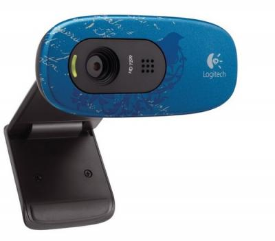 Веб-камера Logitech HD Webcam C270 Indigo (960-000809) - спереди