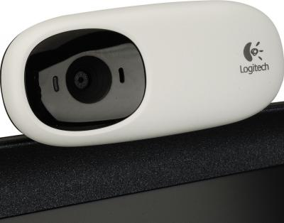 Веб-камера Logitech Webcam C110 (960-000754) - крепление к монитору