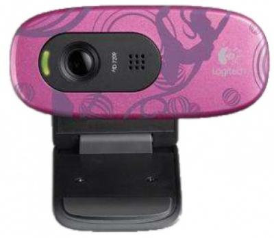 Веб-камера Logitech HD WebCam C270 Purple (960-000810) - спереди