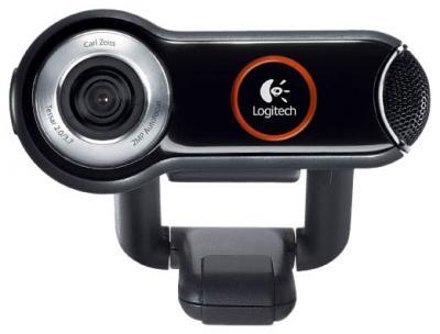 Веб-камера Logitech QuickCam Pro 9000 (960-000483) - спереди