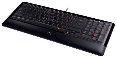 Клавиатура Logitech Compact K300 Black USB (920-001493) - общий вид