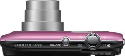 Компактный фотоаппарат Nikon S2600 Pink - Вид сверху