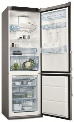 Холодильник с морозильником Electrolux ENA 34953X - вид спереди