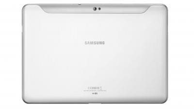 Планшет Samsung Galaxy Tab 10.1 16GB 3G Pure White (GT-P7500) - сзади