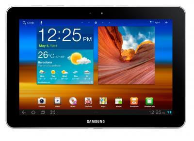 Планшет Samsung Galaxy Tab 10.1 16GB 3G Pure White (GT-P7500) - спереди