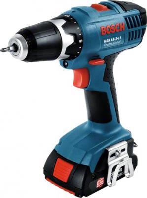 Профессиональная дрель-шуруповерт Bosch GSR 18-2-LI Professional (2 аккумулятора)(06019A4300) - общий вид