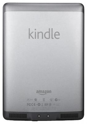 Электронная книга Amazon Kindle Touch - вид сзади