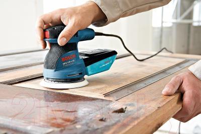 Профессиональная эксцентриковая шлифмашина Bosch GEX 125-1 AE Professional (0.601.387.500) - в работе