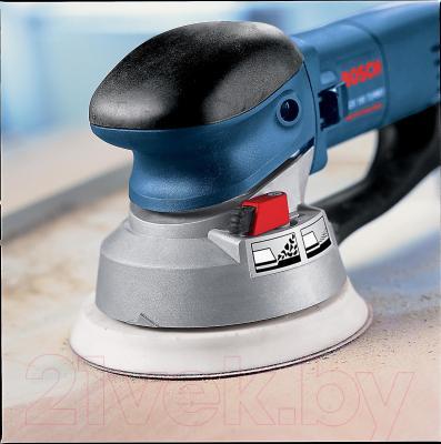 Профессиональная эксцентриковая шлифмашина Bosch GEX 150 Turbo Professional (0.601.250.788) - в работе