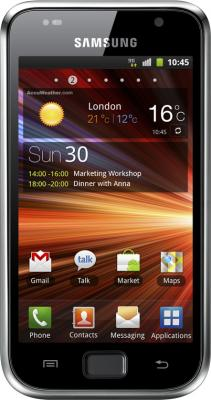 Смартфон Samsung I9001 Galaxy S Plus Black (GT-I9001 HKDSER) - вид спереди
