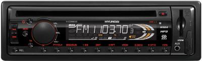 Автомагнитола Hyundai H-CDM8035 - общий вид, красная подсветка