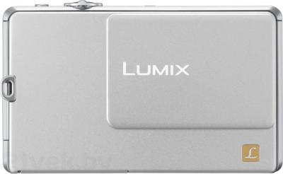 Компактный фотоаппарат Panasonic Lumix DMC-FP1EE-S - вид спереди с закрытым объективом