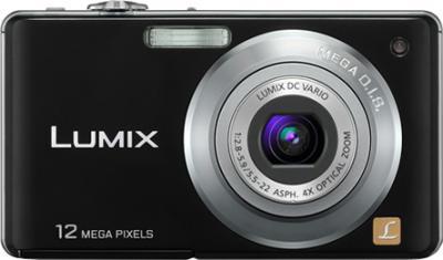 Компактный фотоаппарат Panasonic Lumix DMC-FS12 Black - Вид спереди