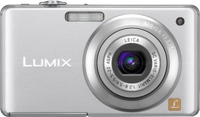 Компактный фотоаппарат Panasonic Lumix DMC-FS7EE-S - вид спереди