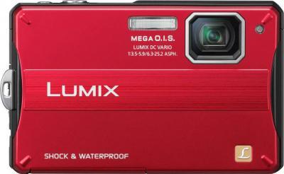 Компактный фотоаппарат Panasonic Lumix DMC-FT10 Red - Вид спереди