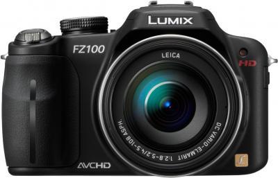 Беззеркальный фотоаппарат Panasonic Lumix DMC-FZ100  - вид спереди