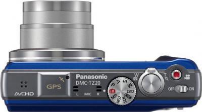 Компактный фотоаппарат Panasonic Lumix DMC-TZ20EE-A - вид сверху