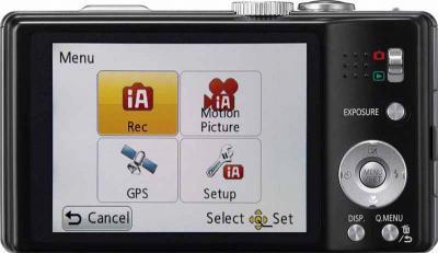 Компактный фотоаппарат Panasonic Lumix DMC-TZ20EE-K - вид сзади