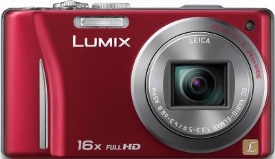 Компактный фотоаппарат Panasonic Lumix DMC-TZ20EE-R - вид спереди