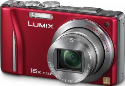 Компактный фотоаппарат Panasonic Lumix DMC-TZ20EE-R - общий вид