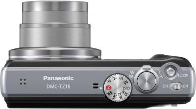 Компактный фотоаппарат Panasonic Lumix DMC-TZ18EE-K - вид сверху