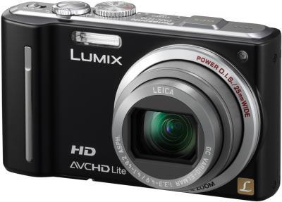 Компактный фотоаппарат Panasonic Lumix DMC-TZ10EE-K - вид спереди