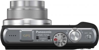 Компактный фотоаппарат Panasonic Lumix DMC-TZ10EE-K - вид сверху