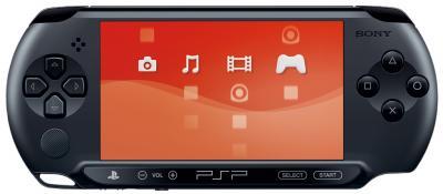 Игровая приставка Sony PlayStation Portable Street (PSP-E1008CB) - фронтальный вид