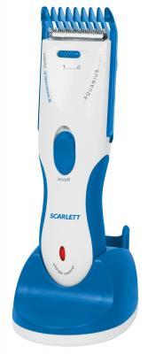 Машинка для стрижки волос Scarlett SC-262 White with blue - общий вид