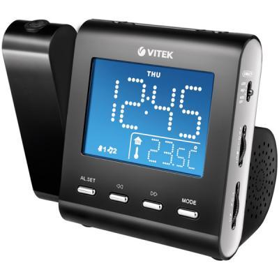 Радиочасы Vitek VT-3504 (черный) - общий вид