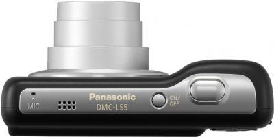 Компактный фотоаппарат Panasonic LUMIX DMC-LS5EE-K - вид сверху