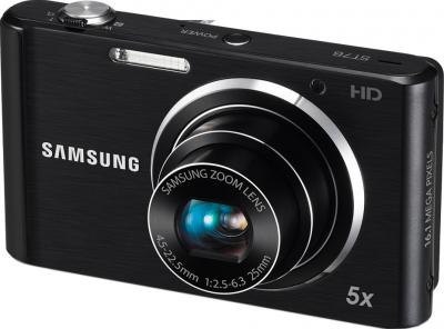 Компактный фотоаппарат Samsung ST76 (EC-ST76ZZBPBRU) Black - общий вид