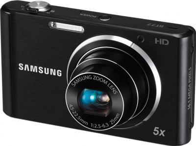 Компактный фотоаппарат Samsung ST77 (EC-ST77ZZBPBRU) Black - общий вид