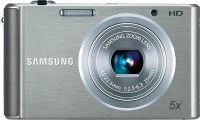 Компактный фотоаппарат Samsung ST77 (EC-ST77ZZBPSRU) Silver - вид спереди