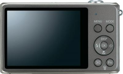 Компактный фотоаппарат Samsung ST77 (EC-ST77ZZBPSRU) Silver - вид сзади