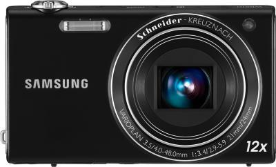 Компактный фотоаппарат Samsung WB210 Black - вид спереди